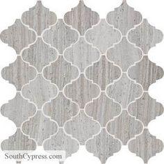 Limestone - Chenille White Polished Baroque Mosaic