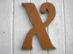 Wooden Letter X Sign Shabby chic Rustic Alphabet by LettersofWood, $25.00