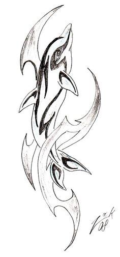 Tribal Dolphin in My Drawings by Zack Alva