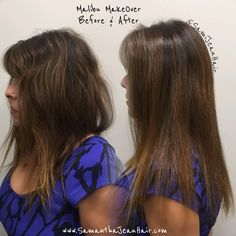 A Malibu C Makeover removes hard water buildup (minerals) from the hair.   It literally removes the rock wall your hair has accumulated allowing for your hair to shine.   The Malibu Makeover removes brassy-ness and discoloration causes by minerals allowing for color and and smoothing treatments etc. to do their job more efficiently, last longer and show their true radiant color!