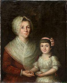 Portrait de famille  Huile sur toile XVIIIème siècle Ecole Française in Art, antiquités, Art du XIXème, et avant, Peintures, émaux | eBay