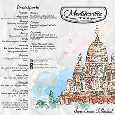 Diseño de menu de Montmartre cafe #cafe #Caracas #Ccs #gourmet #restaurat #Diseño #diseñoG8 #Venezula #Paris