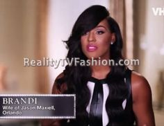 """Brandi Maxiell's Robert Rodriguez Black & White Colorblock Faux-Leather Peplum Top on """"Basketball Wives L.A."""""""