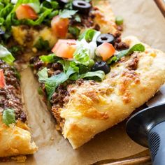 This Taco Pizza is the perfect mash-up for nights when you can't decide between tacos or pizza!