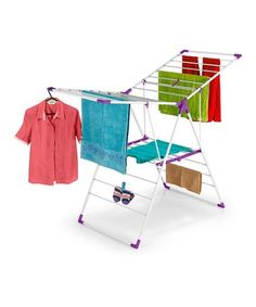 Love this Purple & White Collapsible Clothes Drying Stand on #zulily! #zulilyfinds