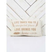 """This pillow is super quote with its inspiring quote that your girl friends would love!   - 13 1/2"""" x 8""""   - imported"""