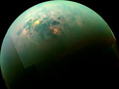 Saturn's giant moon Titan is home to vast hydrocarbon seas. Now, researchers have spotted waves on at least 3 different seas - and they've also come up with the first estimates of what these mysterious seas are made of. Spacecraft spots probable waves on Titan's seas | Science/AAAS | News