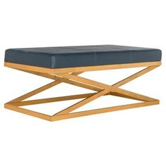 Check out this item at One Kings Lane! Odessa X-Bench, Navy