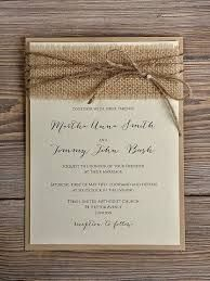 HOW TO MAKE SIMPLE BURLAP wedding invitations - Google Search