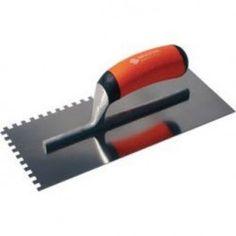 Poignée bimatière, moulure alu. Livré avec porte platoir. Dimension : 28 x 13 mm. Modèle : 10 x 10 dents carrées.