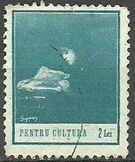 Stamp: Reading woman (Romania) (Pentru Cultura (Culture Fund)) Mi:RO Z26