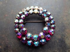 Vintage Brooch 50s Antique Czech/German by CodettiSupply on Etsy