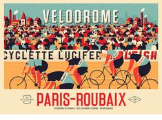 Full colour version of the new vintage Paris-Roubaix print. Wheelie over to the shop to find this one and much more! Paris Roubaix, Nature Prints, Bird Prints, Cycling Art, Road Cycling, Road Bike, Cycling Quotes, Mtb Bike, Cycling Jerseys