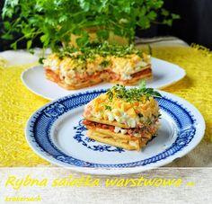 Kulinaria Uli: Rybna salatka warstwowa na krakersach