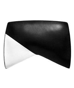 Opposites Attract -- Black and White Accessories: Crossover Clutch, $1,085, NARCISO RODRIGUEZ, saksfitfthavenue.com