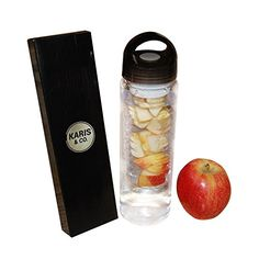 d01445d1957597 Water Bottle Infuser by Karis Co Reusable BPAFree Fruit Infusion Drinking  Flask for Sports Exercise Gym Crossfit Yoga Weight Loss Perfect for Drinks  with ...