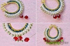 Pandahall Original Project--How to Make Unique Beading Dangle Earrings with Pearl and Glass Beads Dangle Earrings, Pearl Necklace, Beading, Beadwork, Bead Crafts, Jewerly, Glass Beads, Dangles, Projects To Try