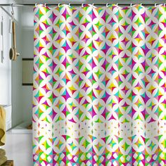 Aimee St Hill Color Block Shower Curtain #color #pattern #bathroom