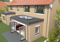 Skypod UPVC skylights for flat roofs | Eurocell