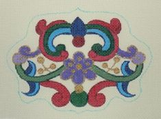 """DC-67  Imperial Ornament #18 Mesh, 4"""" x 5 1/2"""" Adapted from antique Russian jewelry design"""
