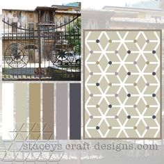 Colour Palette Garda Mansion by Stacey's Craft Designs Design Crafts, Photo Wall, Palette, Quilt, Outdoor Structures, Colour, Mansions, Create, Home Decor