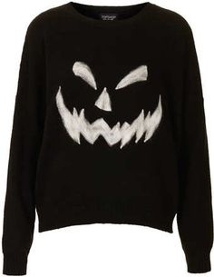 **I am totally going to make one of these  Topshop Knitted Pumpkin Face Jumper