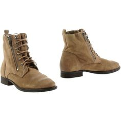 Sam Edelman Ankle Boots ($74) ❤ liked on Polyvore featuring shoes, boots, ankle booties, sand, leather booties, leather ankle bootie, round toe booties, leather boots and wooden heel booties