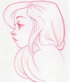 Drawing Sketches, Drawing Faces, Art Drawings, Side Face Drawing, Pencil Drawings, Drawing Ideas, Sketching, Drawing Tips, Drawing Hair