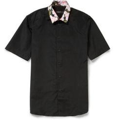Givenchy - Printed Short-Sleeve Cotton Shirt