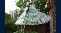 Plastic roof with PET Bottle