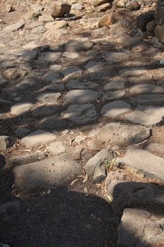Bible historians and archeologists are certain Jesus walked on these very stones.  Oh to walk where he walked...
