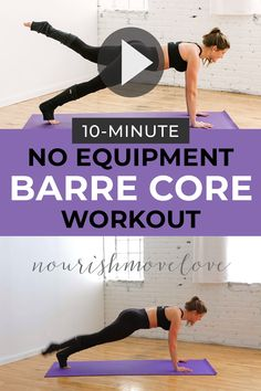 Tone your abs + butt with this at home workout! No equipment needed -- just your bodyweight and ten minutes! Perfect for busy moms or college girls workout out at home! at home Bodyweight Barre Workout Pilates Workout Routine, Pilates Training, Barre Workout Video, Pilates Abs, Race Training, Insanity Workout, Workout Bodyweight, Strength Training, Barre At Home Workout