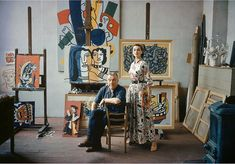 Model with French painter and sculptor Fernand Leger, Paris 1954