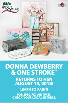 Donna is back on HSN! She will be on HSN selling all new One Stroke kits!