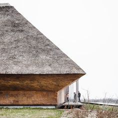 Wadden Sea Centre by Dorte MandrupResearch, Architecture, Interiors Photography: ©Rasmus Hjortshøj Around years ago, the end of the. Roof Architecture, Contemporary Architecture, Architecture Details, Architectural Materials, Architectural Section, Thatched Roof, Natural Scenery, Interior Photography, Denmark
