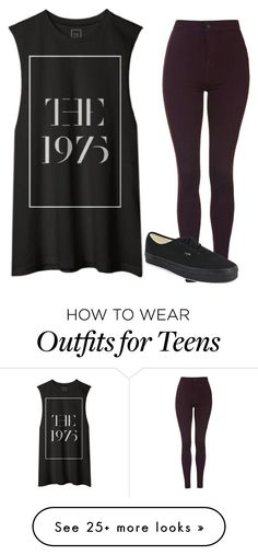 """""""Untitled #377"""" by slowlygivingup724 on Polyvore featuring Topshop, Vans, women's clothing, women, female, woman, misses and juniors"""