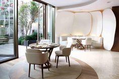 Camelia Restaurant - Mandarin Oriental Hotel, Paris - designed by Jouin Manku Studio