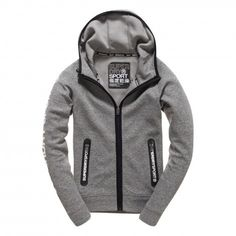 Superdry Gym Tech Ziphood fitness vest dames grey
