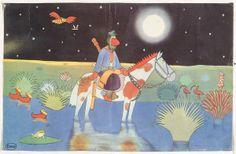 Carybé - 2º calendário ESSO - 1942 / 2nd ESSO (EXXON) Calendar - 1942 12 guaches representando cenas da vida rural argentina / 12 gouaches representing scenes of Argentina's rural life