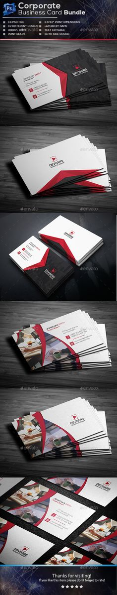 Corporate Business Card Template PSD Bundle
