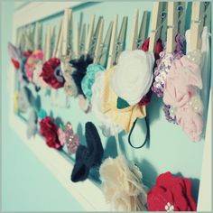 DIY Baby headband holder-- scroll all the way down to bottom for this project