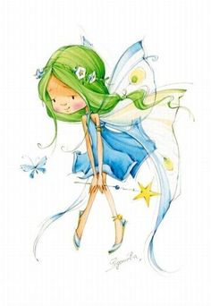 FEECHKI (pictures for decoupage) - Decoupage - Country Mom Cross Stitch Fairy, Illustration Art, Illustrations, Fairy Art, Faeries, Cross Stitching, Cute Art, Cross Stitch Patterns, Cute Pictures