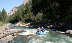 "Rafting on the famous for being featured in the movie ""A River Runs Through It"" -- Gallatin River"