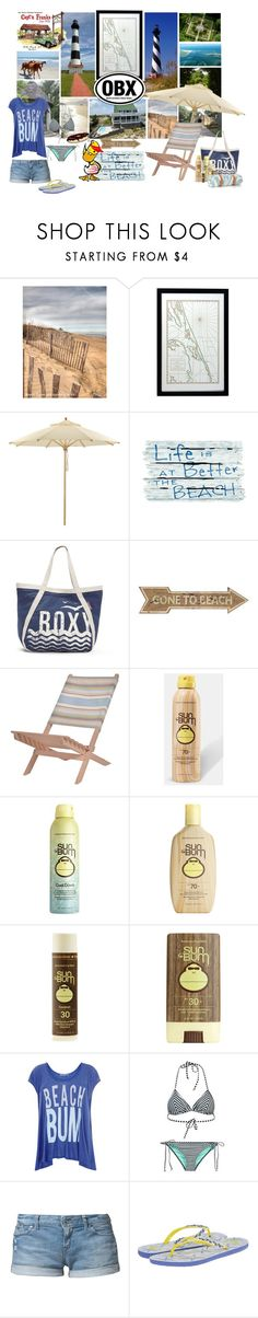 """""""Outer Banks, NC"""" by foreevers ❤ liked on Polyvore featuring ...Lost, Weishäupl, Roxy, Universal Lighting and Decor, Garden Trading, Sun Bum, Wildfox, Maslin & Co. and Franks"""
