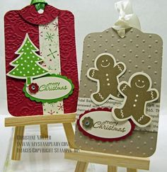 Adorable tags - I love Scentsational Season stamp set and framelits!