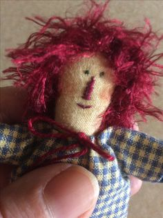 """A close up of a little Andie Doll.Calico body ,""""Aged""""with ParisianEssence."""