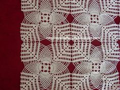 This Pin was discovered by Şul Crochet Square Patterns, Crochet Blocks, Crochet Borders, Filet Crochet, Crochet Motif, Crochet Designs, Crochet Doilies, Crochet Lace, Knitting Patterns