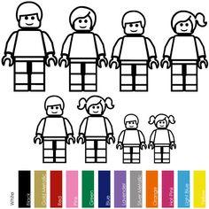 Lego Minifigs, Lego Duplo, Lego Coloring Pages, Abc Cards, Lego Head, Mega Blocks, Stick Figure Family, Lego Challenge, Family Illustration
