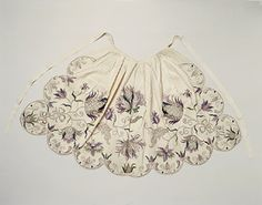 1730-1750 silk apron