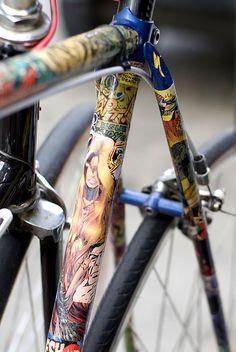 Comics Fixed Bike by Pinball Mafia Productions, via Flickr